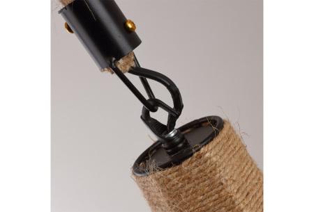 Industriële touwlamp | Hanglamp voor boven de eettafel