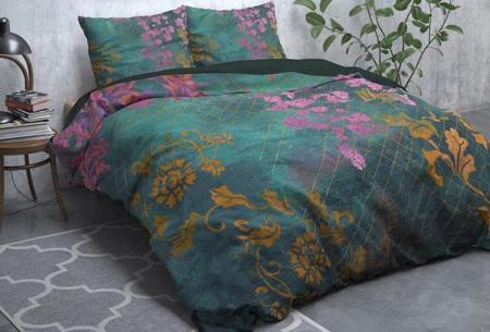WILD dekbedhoezen | Flanellen dekbedovertrek van 100% katoen Tiran flower green