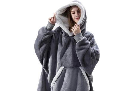 Super comfy fleece hoodie | Een trui en deken in één! - Voor dames en heren Grijs