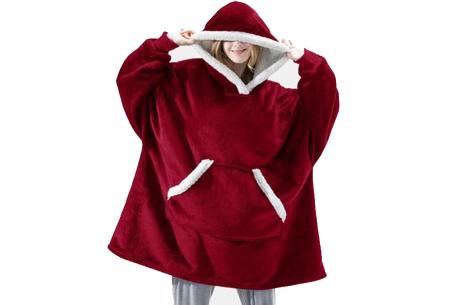 Super comfy fleece hoodie | Een trui en deken in één! - Voor dames en heren Rood