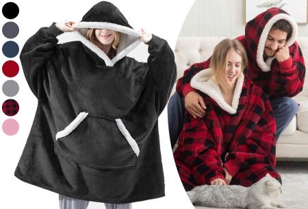 Super comfy fleece hoodie | Een trui en deken in één! - Voor dames en heren