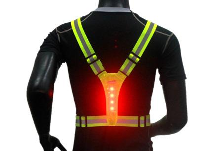Hardloopverlichting   Verstelbaar harnas voor goede zichtbaarheid in het donker