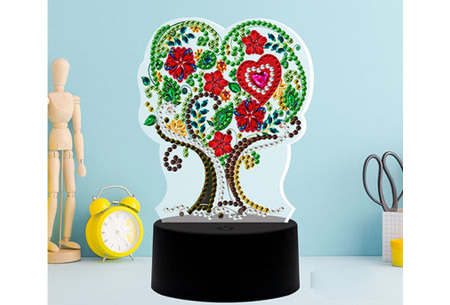 DIY Diamond painting lamp   Maak je eigen 3D-lamp - In 16 stijlen Boom 1