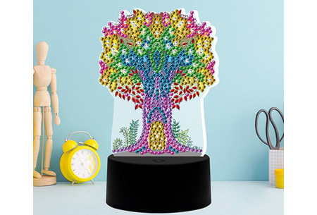 DIY Diamond painting lamp   Maak je eigen 3D-lamp - In 16 stijlen Boom 2