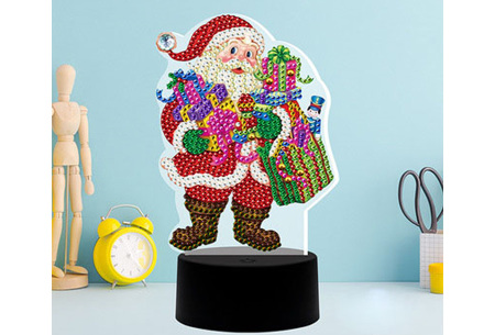 DIY Diamond painting lamp   Maak je eigen 3D-lamp - In 16 stijlen Kerstman