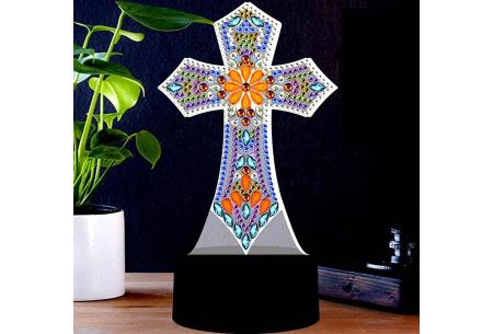 DIY Diamond painting lamp   Maak je eigen 3D-lamp - In 16 stijlen Kruis