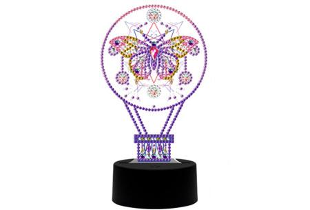 DIY Diamond painting lamp   Maak je eigen 3D-lamp - In 16 stijlen Luchtballon