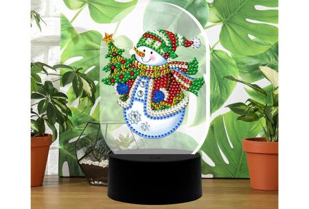 DIY Diamond painting lamp   Maak je eigen 3D-lamp - In 16 stijlen Sneeuwpop
