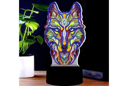 DIY Diamond painting lamp   Maak je eigen 3D-lamp - In 16 stijlen Wolf 1