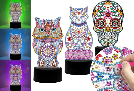 DIY Diamond painting lamp   Maak je eigen 3D-lamp - In 16 stijlen