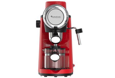 TurboTronic ZEspresso espressoapparaat   Stijlvol koffiezetapparaat met ingebouwde melkopschuimer Rood