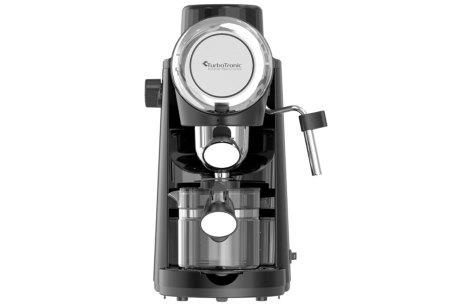 TurboTronic ZEspresso espressoapparaat   Stijlvol koffiezetapparaat met ingebouwde melkopschuimer Zwart
