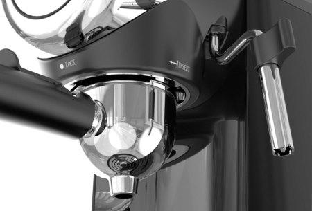TurboTronic ZEspresso espressoapparaat   Stijlvol koffiezetapparaat met ingebouwde melkopschuimer