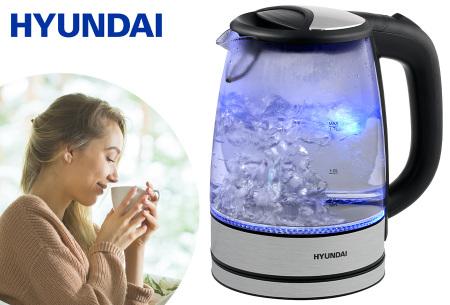 Hyundai glazen waterkoker | Met ingebouwde blauwe ledverlichting!