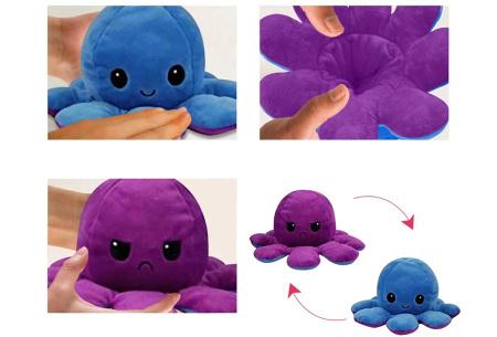 Reversible octopus knuffel | Omkeerbare knuffel - In 11 kleuren