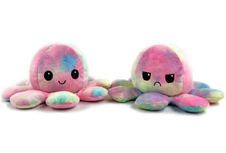 Reversible octopus knuffel | Omkeerbare knuffel - In 11 kleuren Regenboog