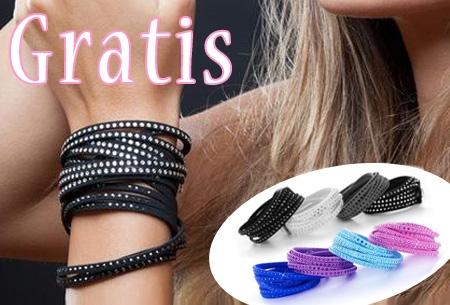 Kleurrijke Lady armband t.w.v. €19,95 nu GRATIS - 8 kleuren