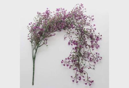 Nep hangplanten   Sfeervolle kunstplanten voor in huis - In verschillende soorten Fuchsia 115 CM