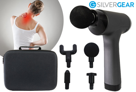Silvergear massagepistool | Draadloos massageapparaat in 2 modellen