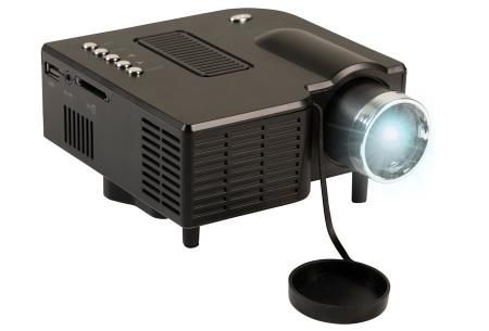 Mini beamer van Silvergear | Draagbare kleine projector voor een echte thuisbioscoop