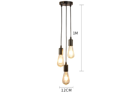 Industriële hanglamp | Sfeervolle plafondlamp inclusief lichtbron