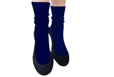 Slofsokken voor dames & heren | Pantoffels en sokken in één Marineblauw