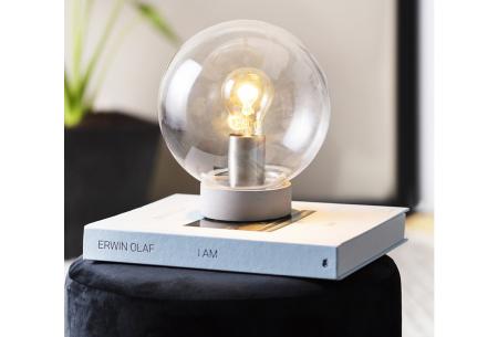 Glazen tafellamp | Industriële verlichting in glazen bol