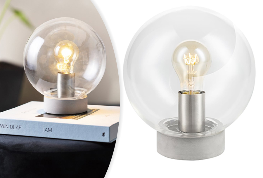 62% korting - Glazen tafellamp
