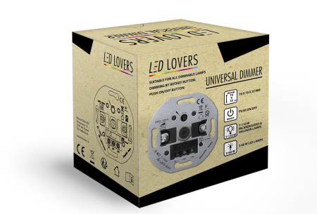 Universele led-dimmer   Voor gloei-, halogeen- en led-lampen