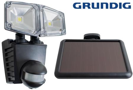 Grundig solar buitenlamp met sensor   De ideale buitenverlichting voor de garage-, voor- of achterdeur