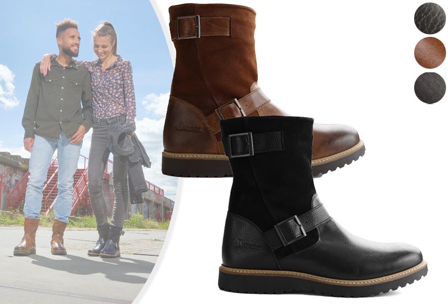 Gevoerde laarzen voor dames en heren