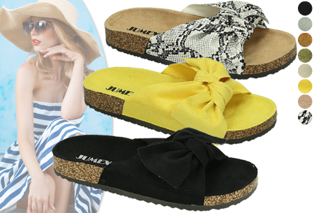 Suède look dames slippers | Met brede strik - in 8 trendy kleuren!