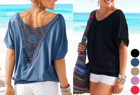 Lace Back shirt | Verkrijgbaar in de maten XS t/m 5XL