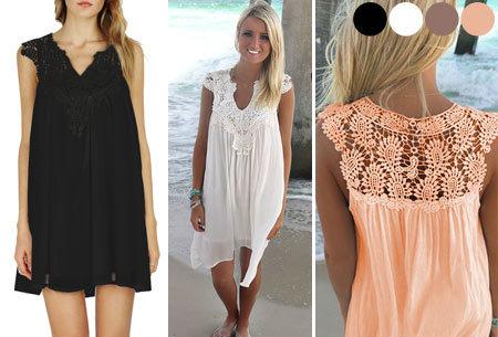 Lace jurk voor een zomerse boho look