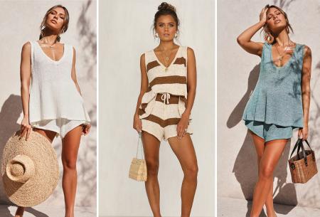 Dames kledingset | Zomerse two piece - in 3 kleuren!