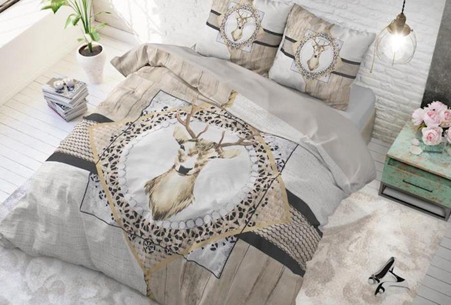 Dreamhouse dekbedovertrekken met print Maat 140 x 220 cm - Wood deer