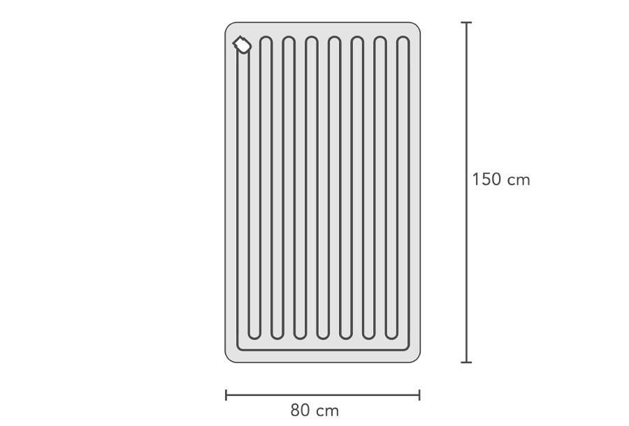 Swiss Nights elektrische deken 1-persoons 60W - 80 x 150 cm