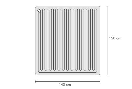Elektrische deken van Swiss Nights | 1-persoons of 2-persoons warmtedeken 140 x 150 CM (90W)