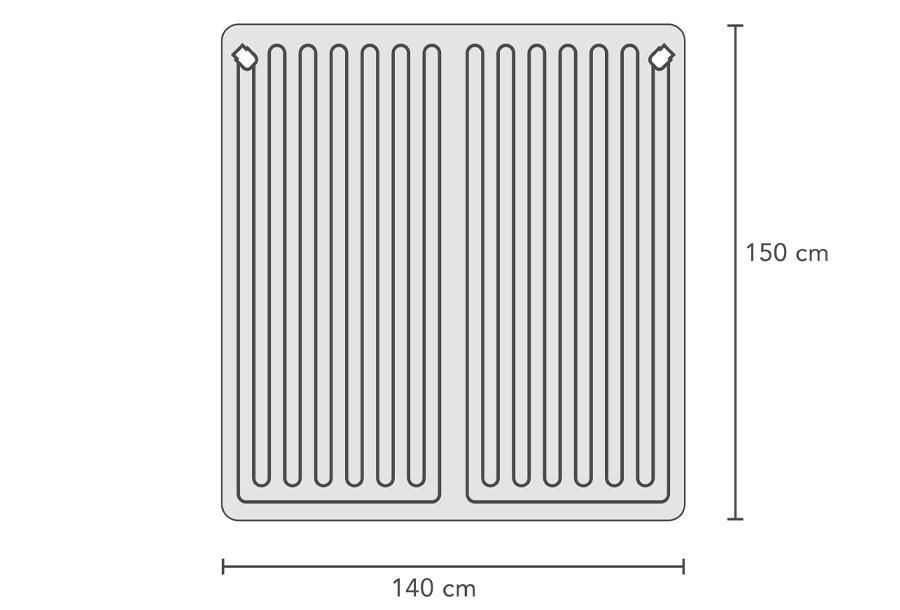 Swiss Nights elektrische deken 2-persoons 2x 60W - 140 x 160 cm