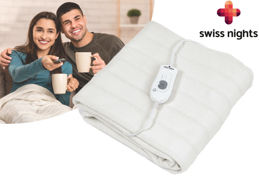 Swiss Nights elektrische deken met 64% korting