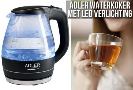 Adler waterkoker met LED verlichting t.w.v. €69,- nu voor slechts €22,95