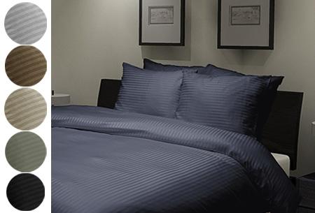 Hotellinnen Uni Stripe dekbedovertrek - in 6 kleuren en 3 maten vanaf €19,95!