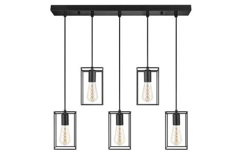 Lifa Living Industriële lamp | Zwarte hanglamp voor boven de eettafel