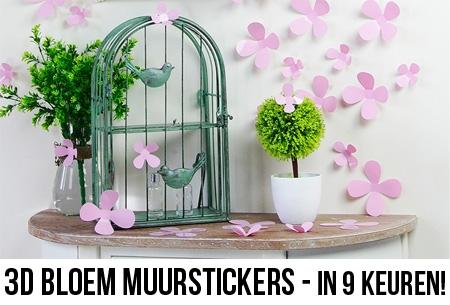 Decoratie Aan De Muur.3d Bloemen Muur Decoratie Stickers Set Van 12 Of 24 Nu Al Vanaf 9 95 Roze