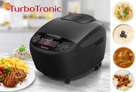 TurboTronic Multicooker   Vervangt o.a. je slowcooker, rijstkoker, snelkookpan en yoghurtmaker!