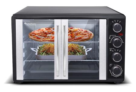 Elektrische oven van TurboTronic   Rvs heteluchtoven voor bakken, braden & grillen
