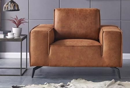 Feel Furniture Weston fauteuil of bank | Luxe design met comfortabel zitvlak Fauteuil cognac