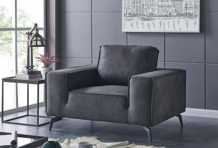 Feel Furniture Weston fauteuil of bank | Luxe design met comfortabel zitvlak Fauteuil donkergrijs