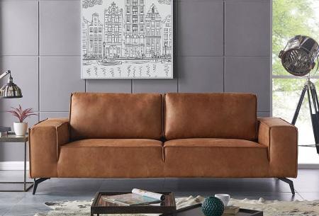 Feel Furniture Weston fauteuil of bank | Luxe design met comfortabel zitvlak 2-zits cognac