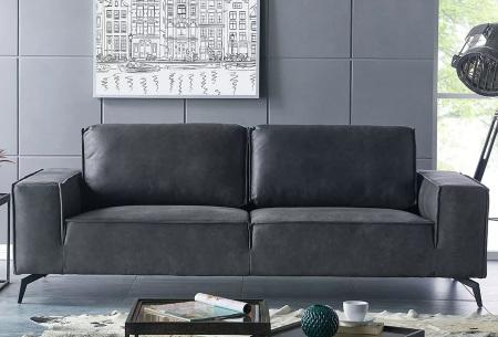 Feel Furniture Weston fauteuil of bank | Luxe design met comfortabel zitvlak 2-zits donkergrijs